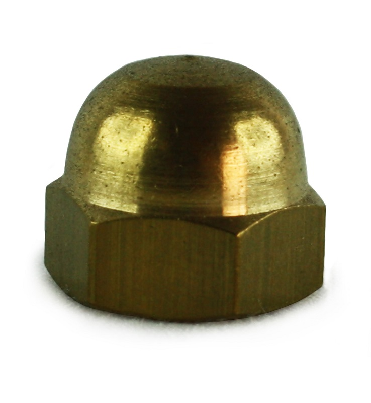 M4 Brass Din 1587 Dome Nuts
