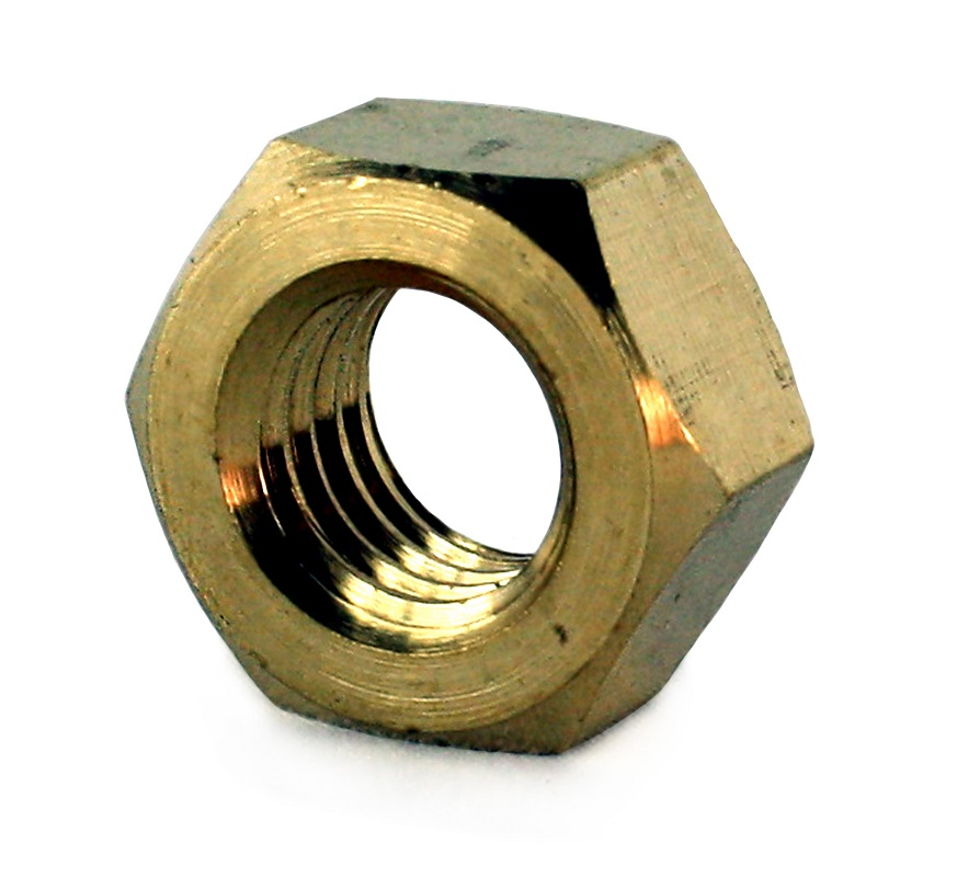 M12 Brass Full Nut DIN 934