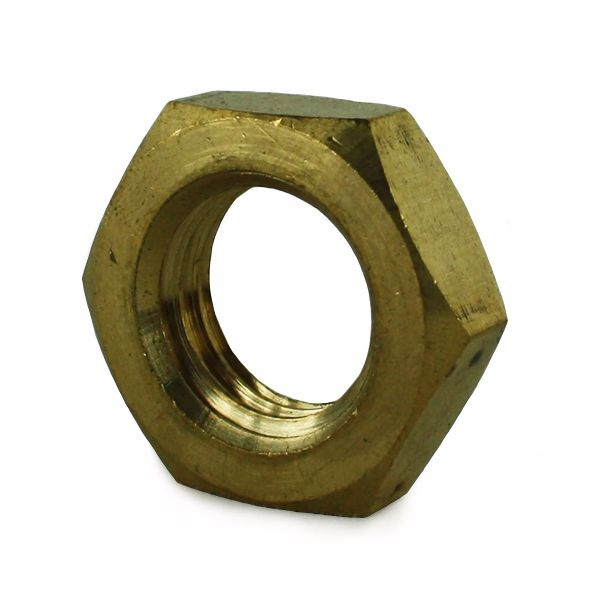 M20 Brass Lock (Half) Nut DIN 493B