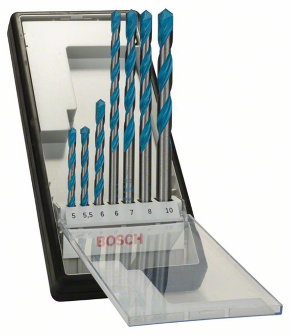 Bosch CYL-9 7pc Multi Construction Drill Set