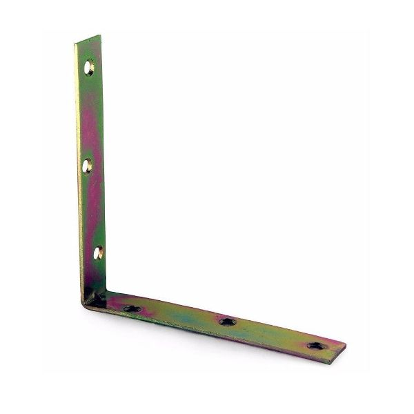 125mm No. 320 Corner Brackets E/Brassed