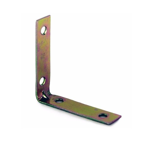 63mm No. 320 Corner Brackets E/Brassed