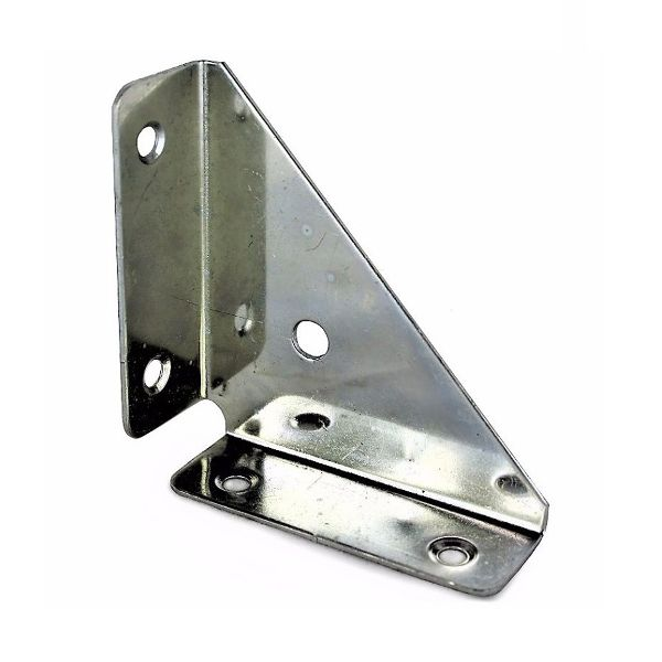 50mm No. 322 90° Flanged Corner Bracket BZP