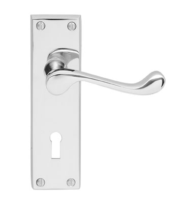 DL54CP VICTORIAN SCROLL - LEVER LOCK FURNITUR