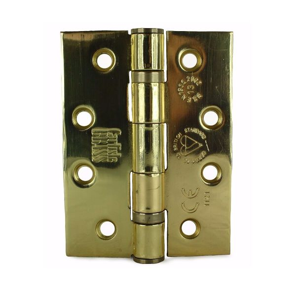 4 x 3 x 3  Electro Brass Plated Gr. 13 Hinge
