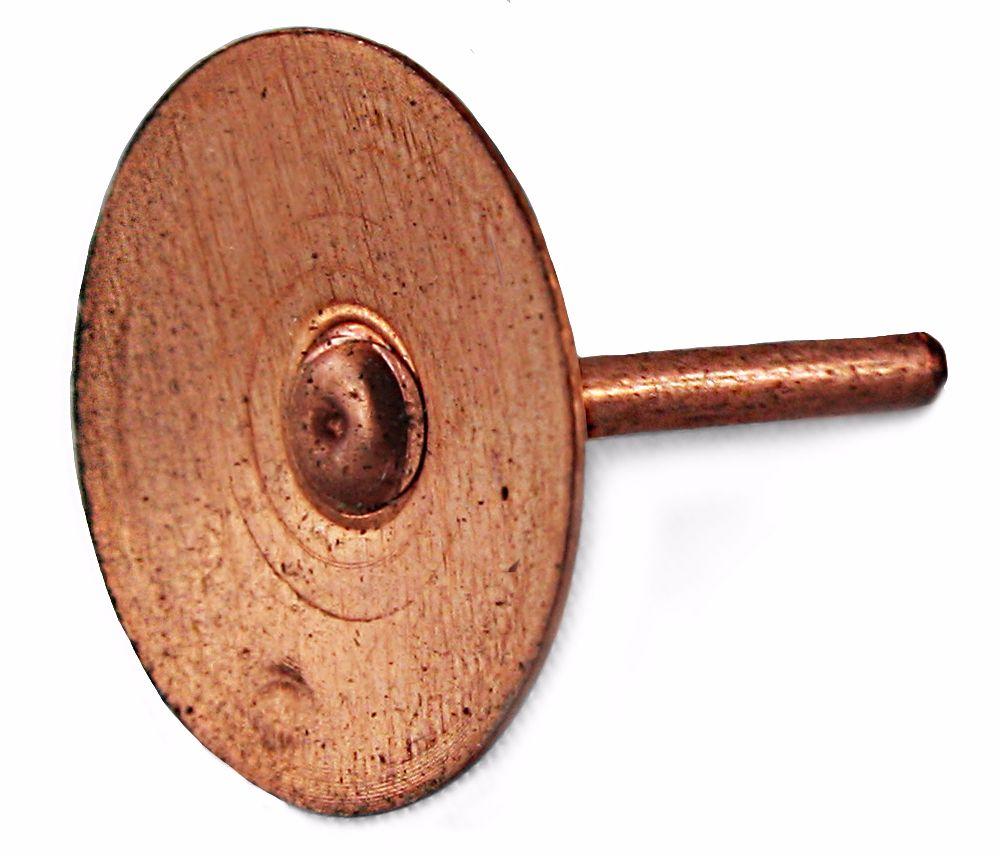 Copper Disc Rivets 3/4'' (Price Per 1000)