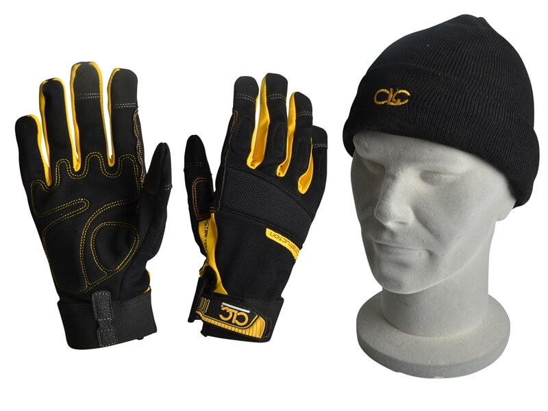 CLC Construction Gloves with Beanie Hat