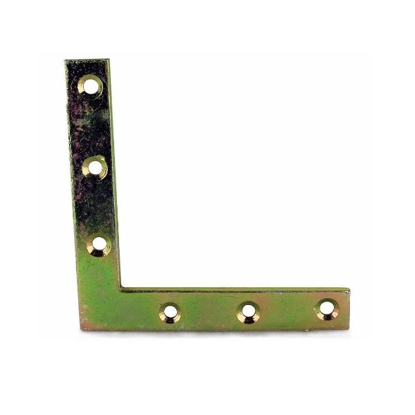 100mm No. 324 Flat Corner Plates BZP/EB