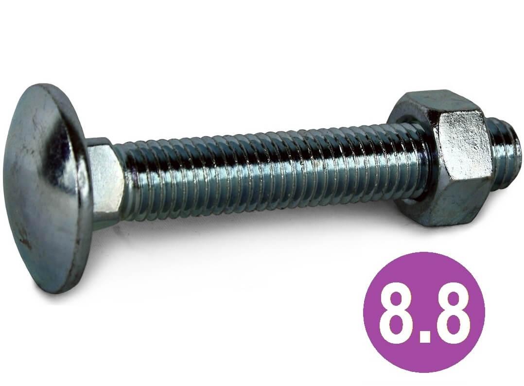 M8x45 8.8 High Tensile Coach Bolts ZYP