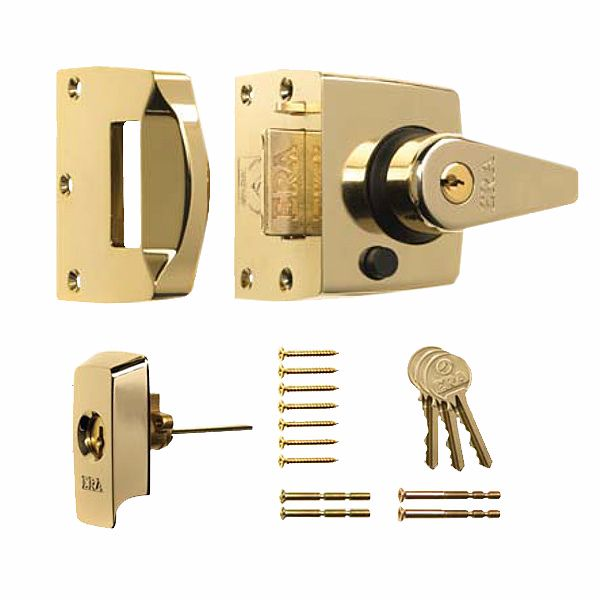 ERA 1830 HIGH SECURITY NIGHT LATCH 40mm PB