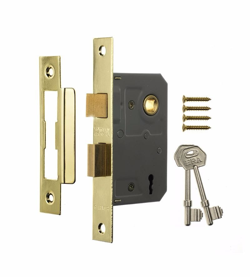 ERA 473-31 2.5  (64mm) 3 LEVER SASH PB