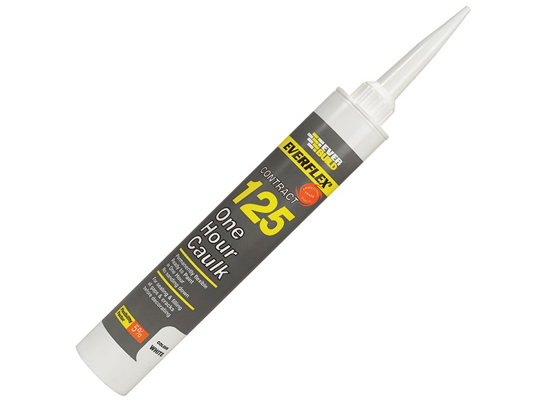 Everbuild 125 ONE HOUR CAULK BROWN Brown C3