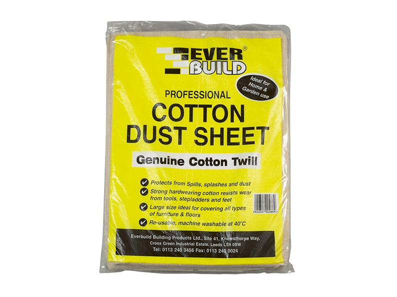 Everbuild Cotton Dust Sheet 12' x 9'