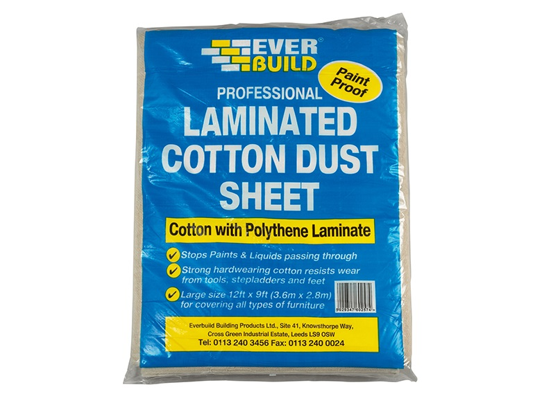Everbuild Laminated Cotton Dust Sheet 12 x 9'