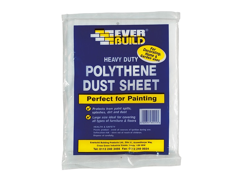 Everbuild Polythene Dust Sheet 12' x 9'