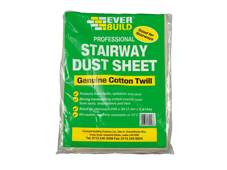 Everbuild STAIRWAY COTTON DUST SHEET 24 X 3