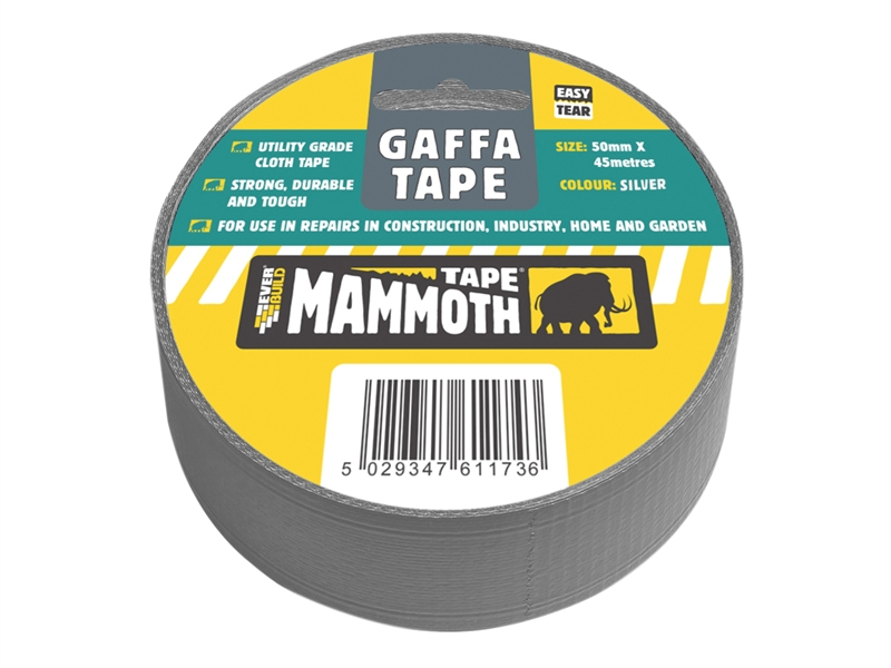 Everbuild Gaffa Tape Silver 50mm 45Mtr