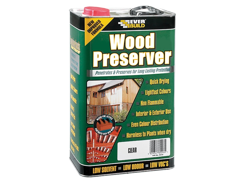 Everbuild Clear Wood Preserver 5L