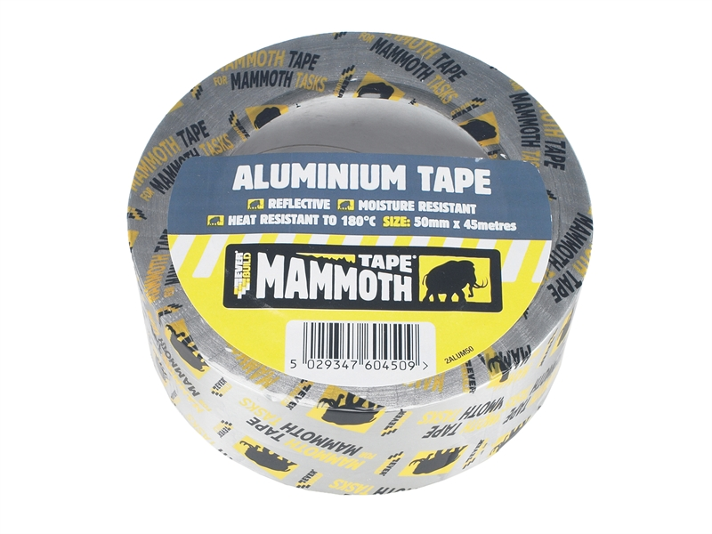 Everbuild Aluminium Foil Tape 100mm 45Mtr