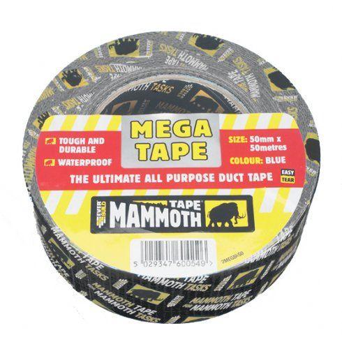 Everbuild Mega All Purp Tape Black 50mm 50Mtr