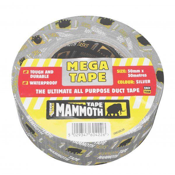 Everbuild Mega Tape Duct Tape Silver 50mmx50M