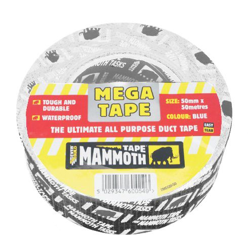 Everbuild Mega All Purp Tape White 50mm 50Mtr