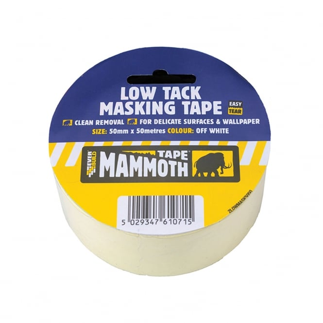 Everbuild Low Tack Masking Tape 50mm x 25Mtr