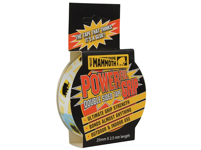 Mammoth D/Sided Power Grip Tape 25mm 2.5M