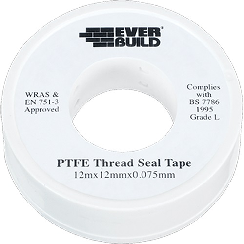 Everbuild PTFE Water Tape 12mm 12Mtr