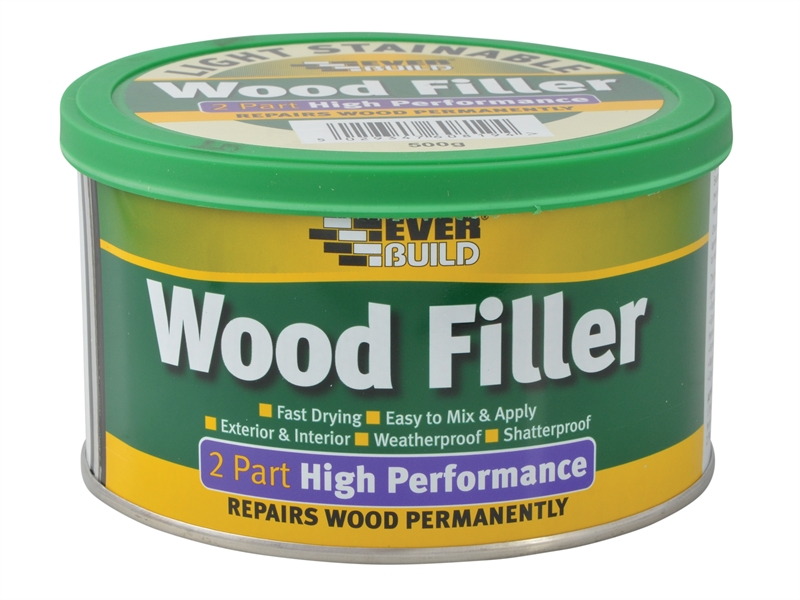Everbuild 2 Part Wood Filler White 500gr