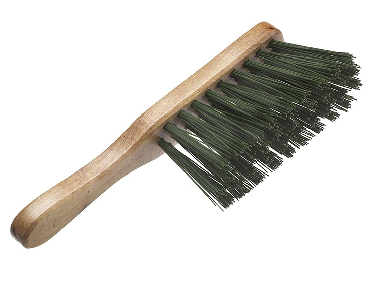 FAITHFULL Hand Brush Stiff Green PVC 275mm (1