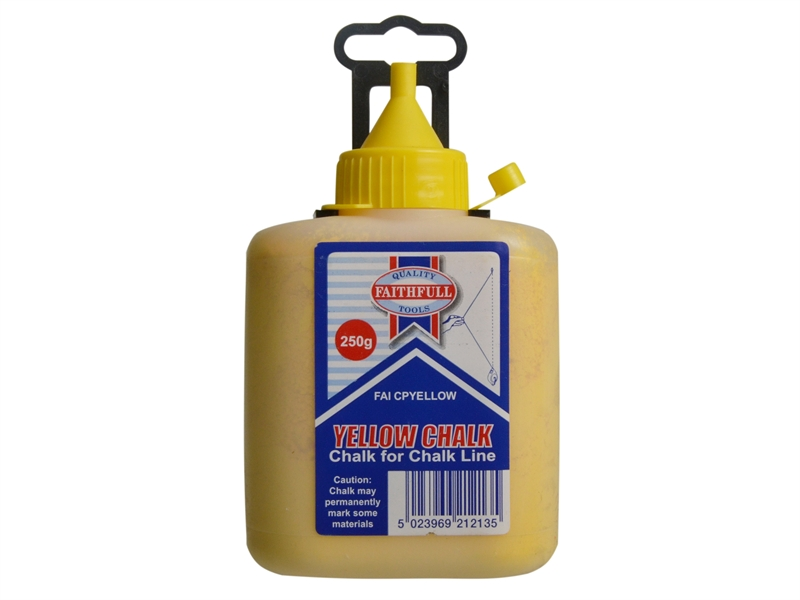 FAITHFULL Chalk Powder 250g - Yellow