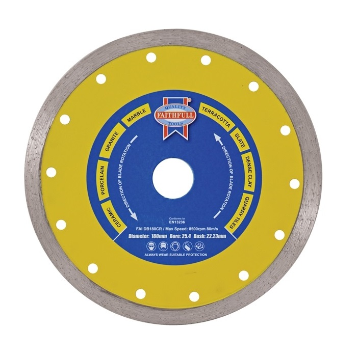 Faithfull Continuous Rim Diamond Blade 180mm