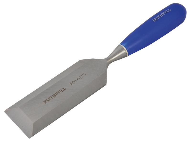 FAITHFULL Bevel Edge Chisel Blue Grip 50mm (2