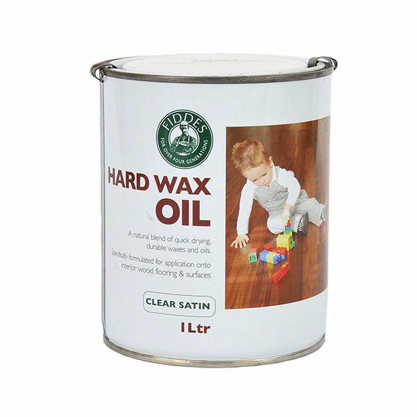 Fiddes Hard Wax Oil 1Ltr Clear Satin
