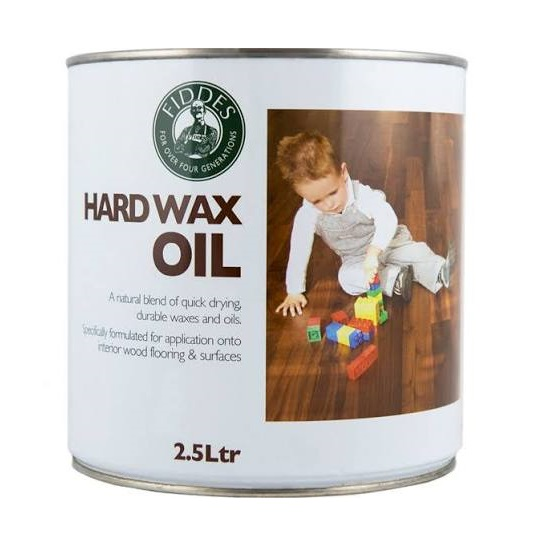 Fiddes Hard Wax Oil 2.5Ltr Clear Satin