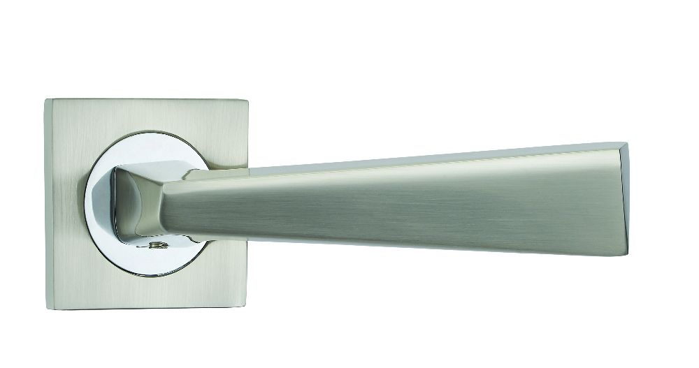 Fortessa Cannes Satin Nickel Lever on Rose