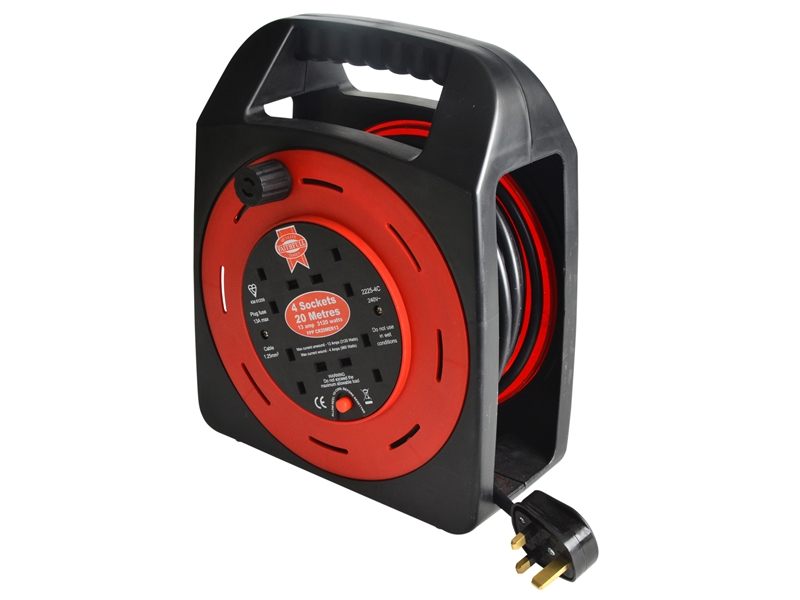 Faithfull 20m 13amp Cable Reel