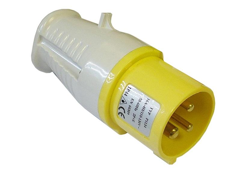 FAITHFULL Yellow Plug   16 Amp 110 Volt
