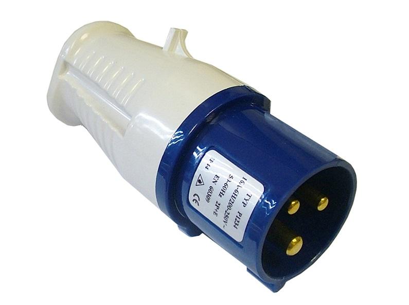 FAITHFULL Blue Replacement Plug 240 Volt 16 A