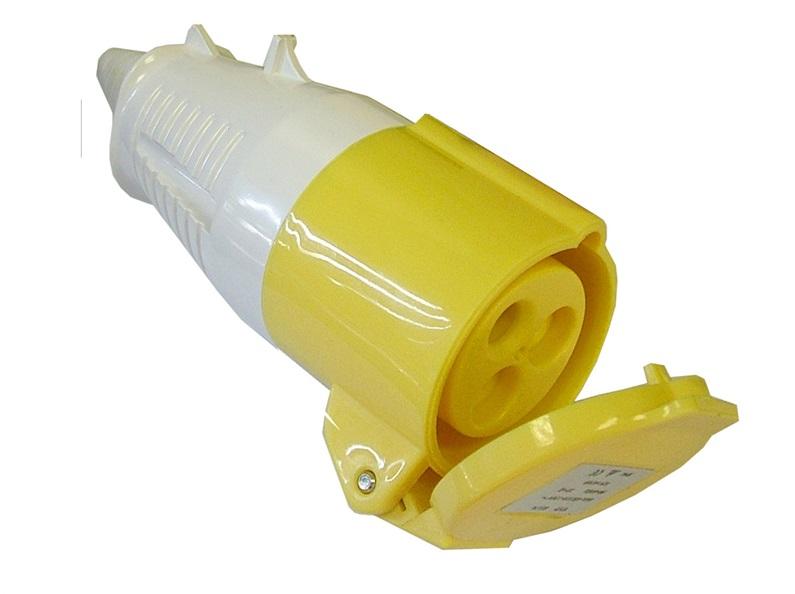 FAITHFULL Yellow Socket 32 Amp 110 Volt