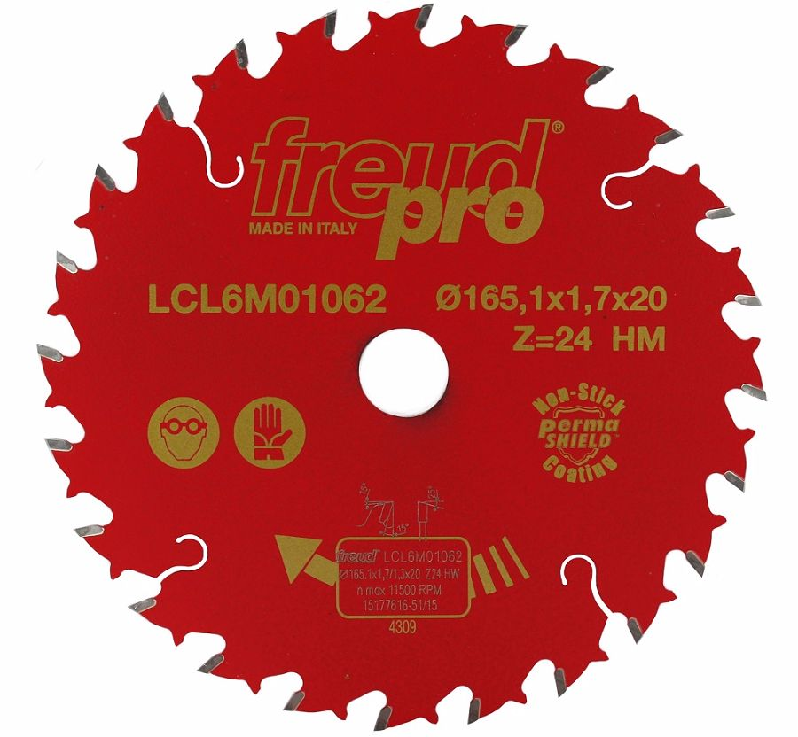 FREUD LCL6M01062 Trim Saw Blade165 x 1.7 x 20