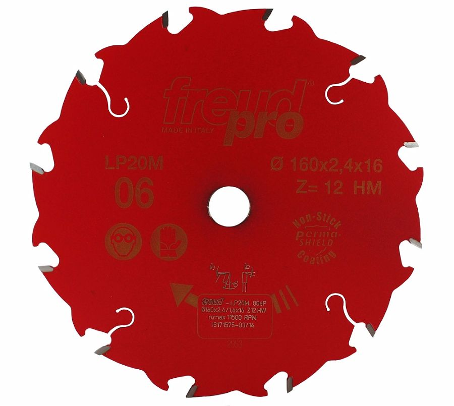 FREUD LP20M 006 Rip Saw Blade 160 X 16 X 12T