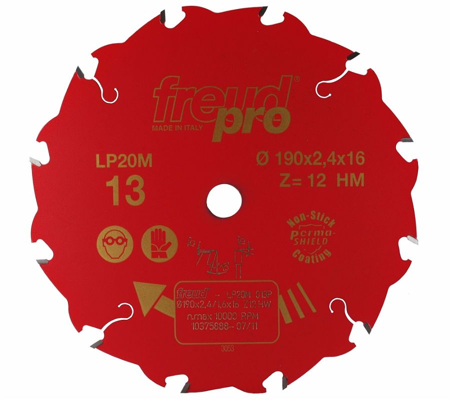 FREUD LP20M 013 Rip Saw Blade 190 X 16 X 12T