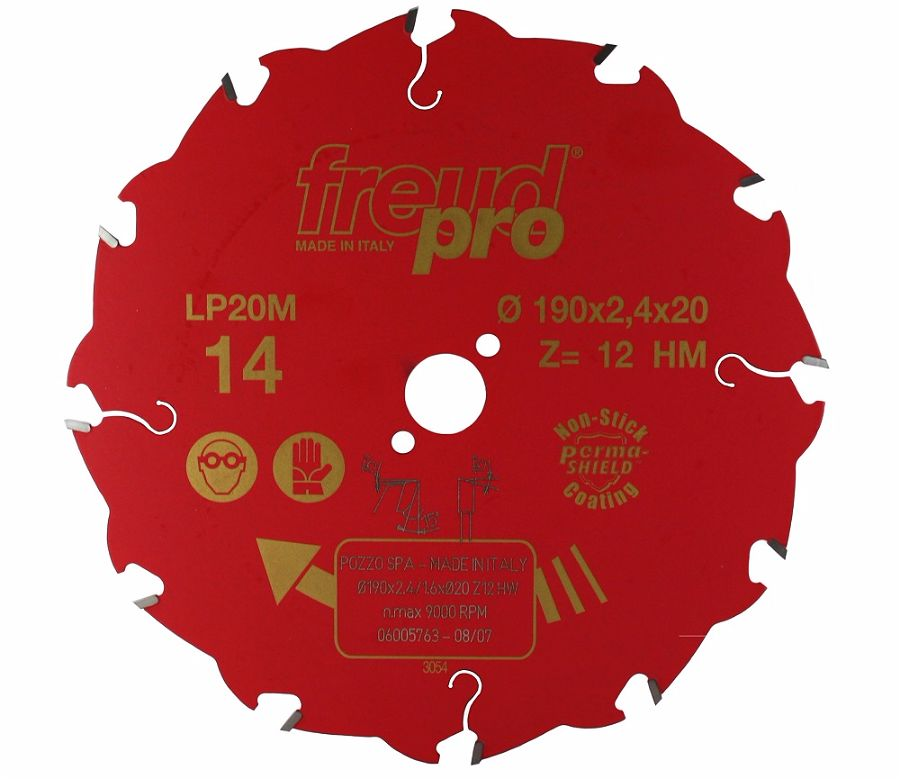 FREUD LP20M 014 Rip Saw Blade 190 X 20 X 12T
