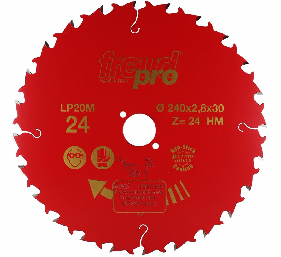 FREUD LP20M 024 Rip Saw Blade 240 X 30 X 24T