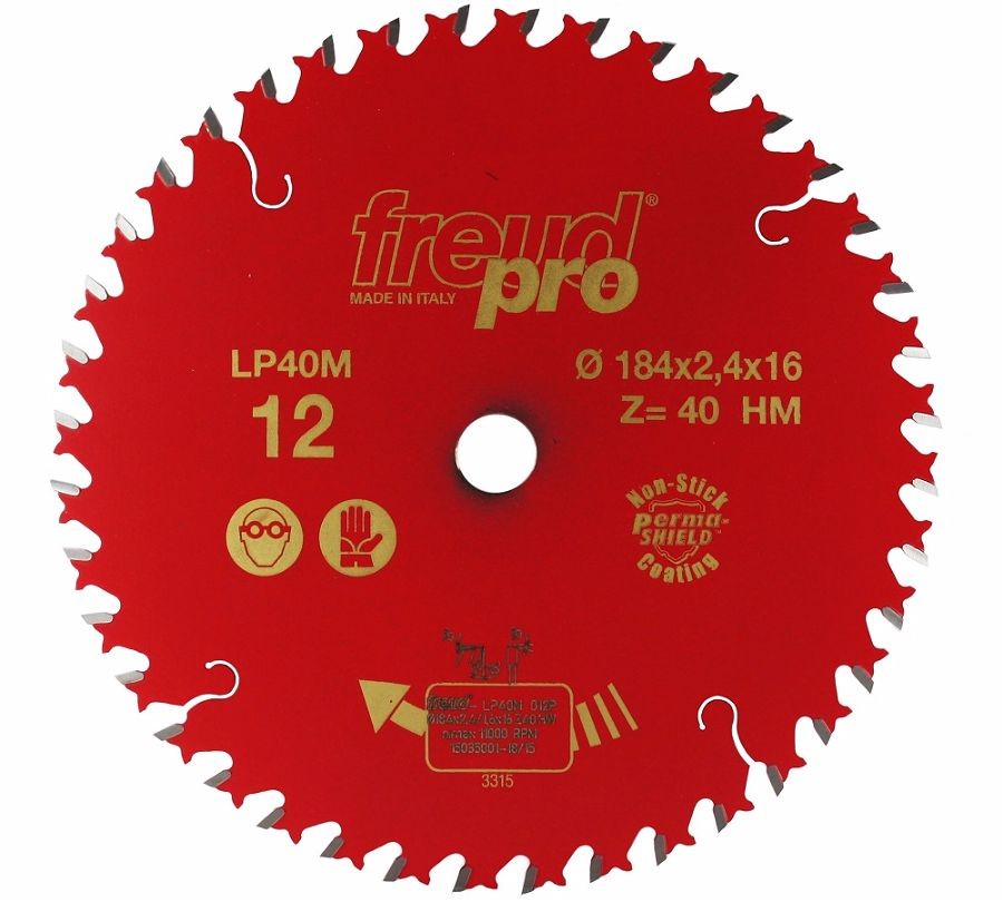 FREUD LP40M 012 Fine Saw Blade 184 X 16 X 40T