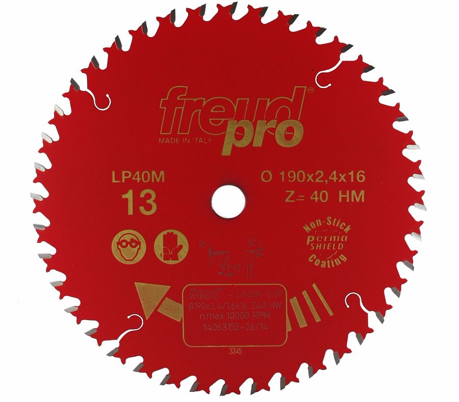 FREUD LP40M 013 Fine Saw Blade 190 X 16 X 40T