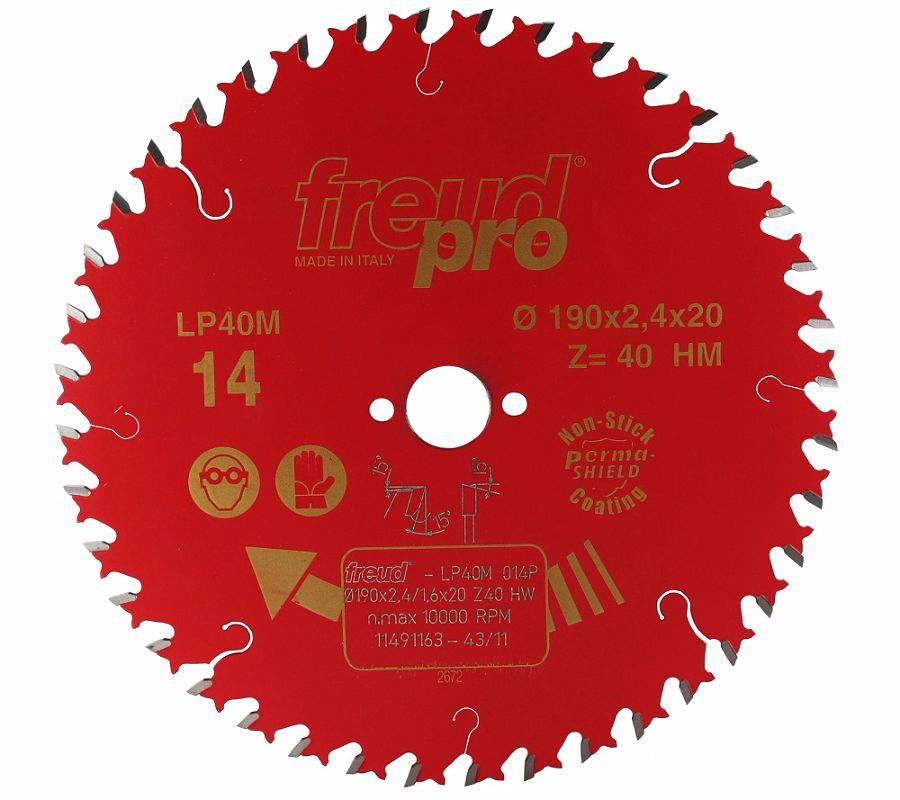 FREUD LP40M 014 Fine Saw Blade 190 X 20 X 40T