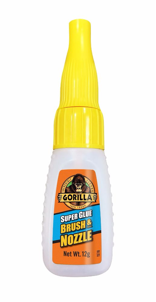 Gorilla Superglue Brush + Nozzle 12g